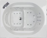 Top view of Oronsay japanese style bath with flush whirlpool jets